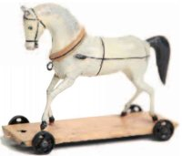 Maerklin Tin-Animals Horse made of sheet metal in the...