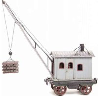 Maerklin Railway-Freight Wagons Crane car #1859/III with...