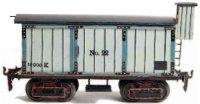 Maerklin Railway-Freight Wagons Box car with eight...