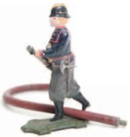 Maerklin Tin-Figures Fireman made of sheet metal with...