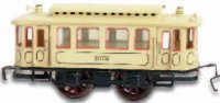 Maerklin Tin-Trams Streetcar trailer #1072, made of sheet...