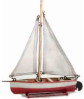 Maerklin Tin-Ships Trailing with sail #5004/16, sailboat...
