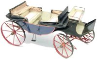 Maerklin Tin-Carriages Large Calesche carriage with silk...