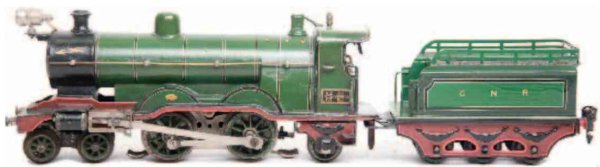 Maerklin Railway-Locomotives English low-voltage locomotive #CE 3120 GNR, hand-painted in