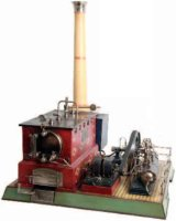 Maerklin Steam Toys-Horizontal Steam Engines Tandem...