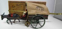 Tantet et Manon Tin-Carriages Carriage with a donkey made...