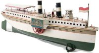 Maerklin Tin-Ships Paddle wheeler, this boat features a...