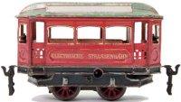 Maerklin Tin-Trams Clockwork tram #01070, motor coach,...