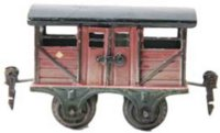 Maerklin Railway-Freight Wagons Cattle car #2866/0 with...