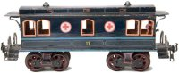 Rock & Graner Railway-Passenger Cars Red Cross hospital...