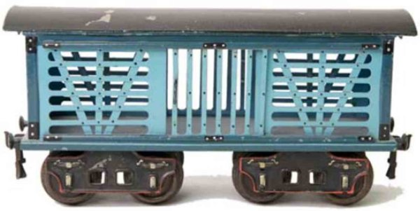 Maerklin Railway-Freight Wagons American cattle car #1871/II with eight wheels, light blue a