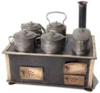 Maerklin Tin-Kitchens and Amenities Cooker with 5 pots
