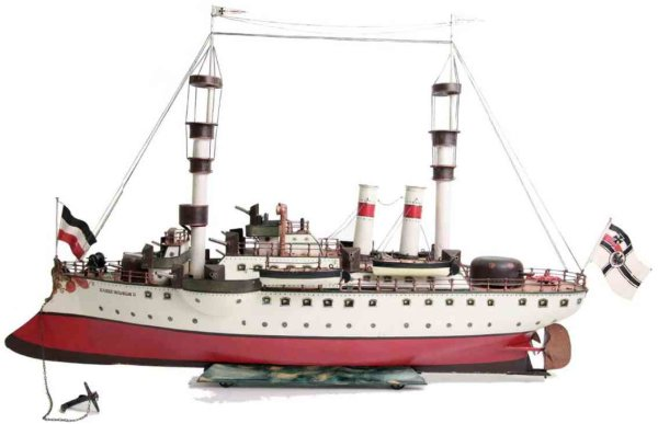 Maerklin Tin-Ships Warship #1096 Kaiser Wilhelm the Great. The very early doubl