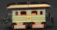 Maerklin Railway-Passenger Cars Ambulance car 1848/0 with...
