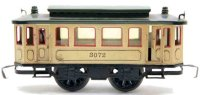 Maerklin Tin-Trams Streetcar trailer #3072, made of sheet...