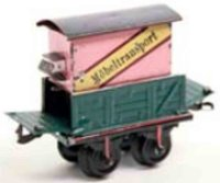 Bing Railway-Freight Wagons Furniture transport car #9193...
