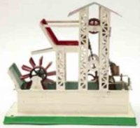 Doll Steam Toys-Drive Models Watermill with pumping...