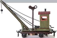 Maerklin Railway-Freight Wagons Crane car #1110/0 with...