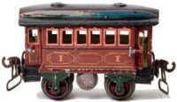 Maerklin Railway-Passenger Cars Transit car #1821/ 0 with...