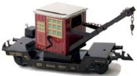 Bing Railway-Freight Wagons Crane car #10/5121 with four...