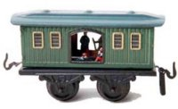 Bub Railway-Freight Wagons Prison car #735 with four...