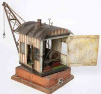 Bing Railway-Cranes Steam crane #13677 with rotating...