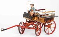 Maerklin Tin-Carriages Carriage with driver and one...