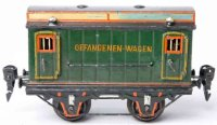 Maerklin Railway-Passenger Cars Prisoner car #2993/0 with...