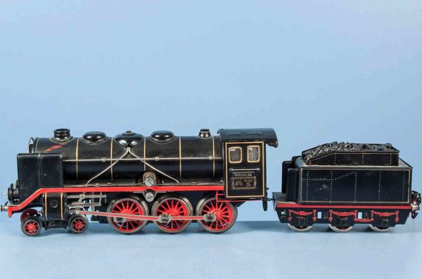 Maerklin Railway-Locomotives Locomotive #GR 66/12920 with small wind ductings in check ma