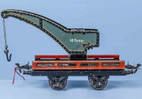 Bub Railway-Freight Wagons Crane car #991 with four...