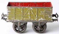 Bing Railway-Freight Wagons High sided car with four...