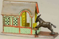 Stevens Co J. & E. Cast-Iron-Mechanical Banks Donkey bank...