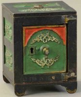 Kyser & Rex Cast-Iron-Mechanical Banks Arched door safe...
