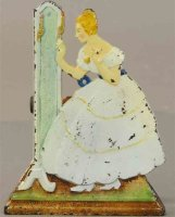 Judd H.L. Cast-Iron Figures Lady at mirror #1468, made of...