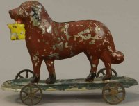 Althof Bergmann & C0 Tin-Figures Brown dog with yellow...