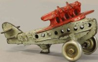 Hubley Cast-Iron Airplanes Cast iron airplane, embossed...