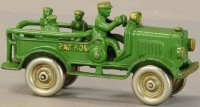 Hubley Cast-Iron trucks Patrol truck, cast iron in green,...