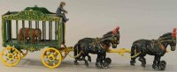 Hubley Cast-Iron-Carriages Four horse royal cage wagon in...