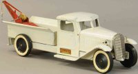 Structo Tin-Trucks Wrecker truck in white with red boom