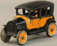 Dent Hardware Co Cast-Iron Oldtimer Yellow cab taxi, cast...
