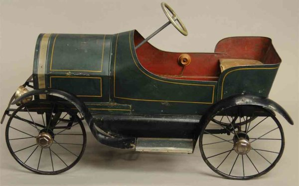 Alamo Iron Works Tin-pedal cars Very interesting and early pedal car features electric headl