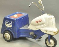 Murray Tin-pedal cars Pressed steel police pedal cycle...