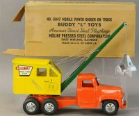 Buddy L Tin-Trucks Mobile power digger on truck #5847,...
