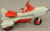 Murray Tin-pedal cars Atomic missle pedal car, made of...