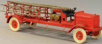Kingsbury toys Tin-Fire-Truck Chemical ladder truck, made...