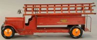 Structo Tin-Fire-Truck Fire ladder truck, pressed steel,...