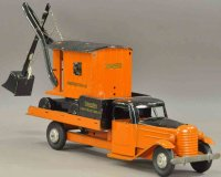 Structo Tin-Trucks Concstruction crane truck pressed...