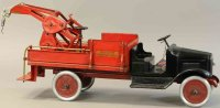Buddy L Tin-Trucks Wrecking truck made of pressed steel,...