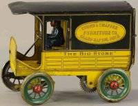 Eberl Hans Tin-Trucks Express delivery van lithographed...