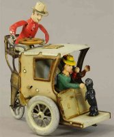 Lehmann Tin-Oldtimer  Li-La Hansom Cab two women seated...